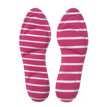 Insole Cushion: Pink + white stripes