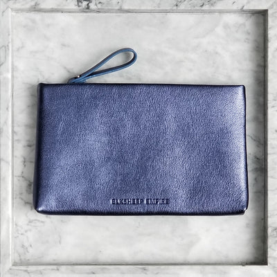 Large Blue Iris Pouch - BLKSHEEP EMPIRE