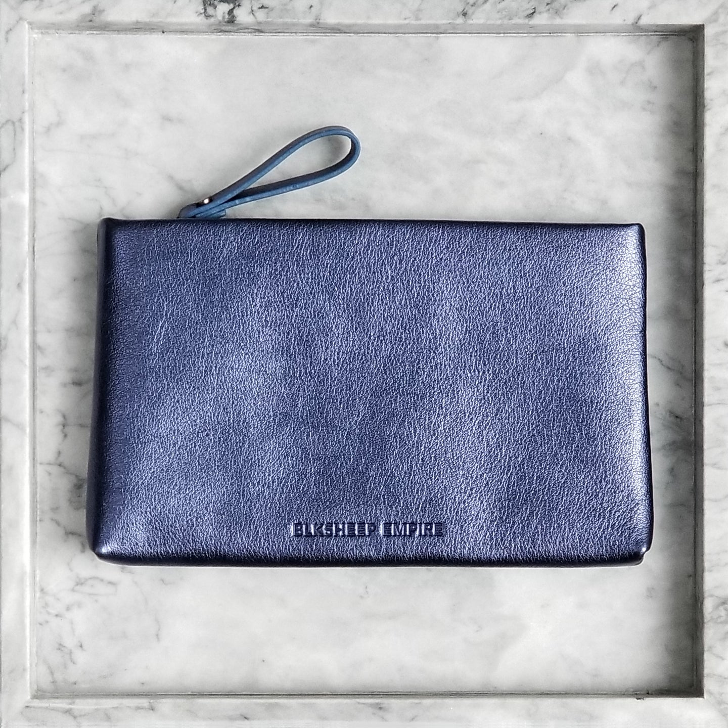 Large Blue Iris Pouch