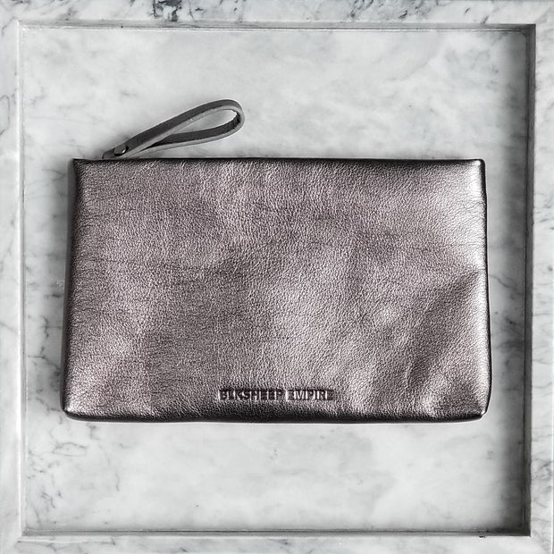Large Pebble Grey Pouch - BLKSHEEP EMPIRE