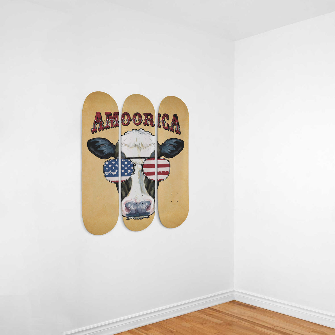 Amoorica 3 Skateboard Wall Art