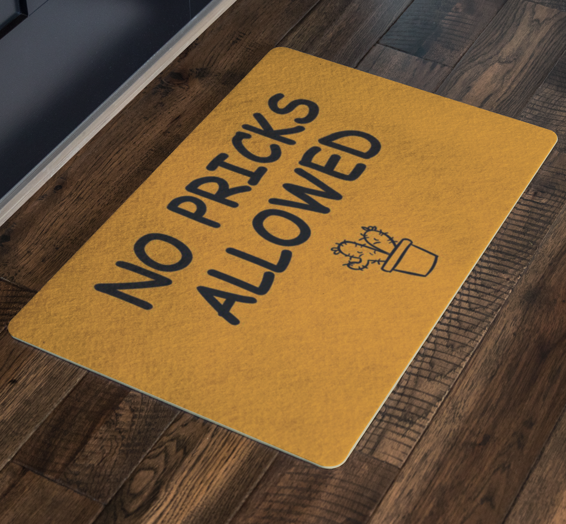 Funny Doormat - No Pricks Allowed - Welcome mat, Front door mat