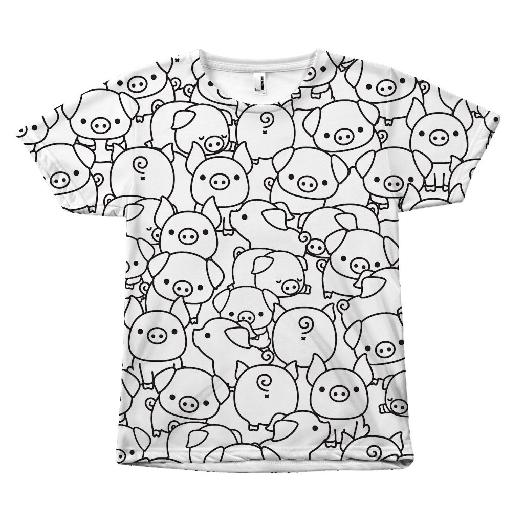 Pigs all over print tee