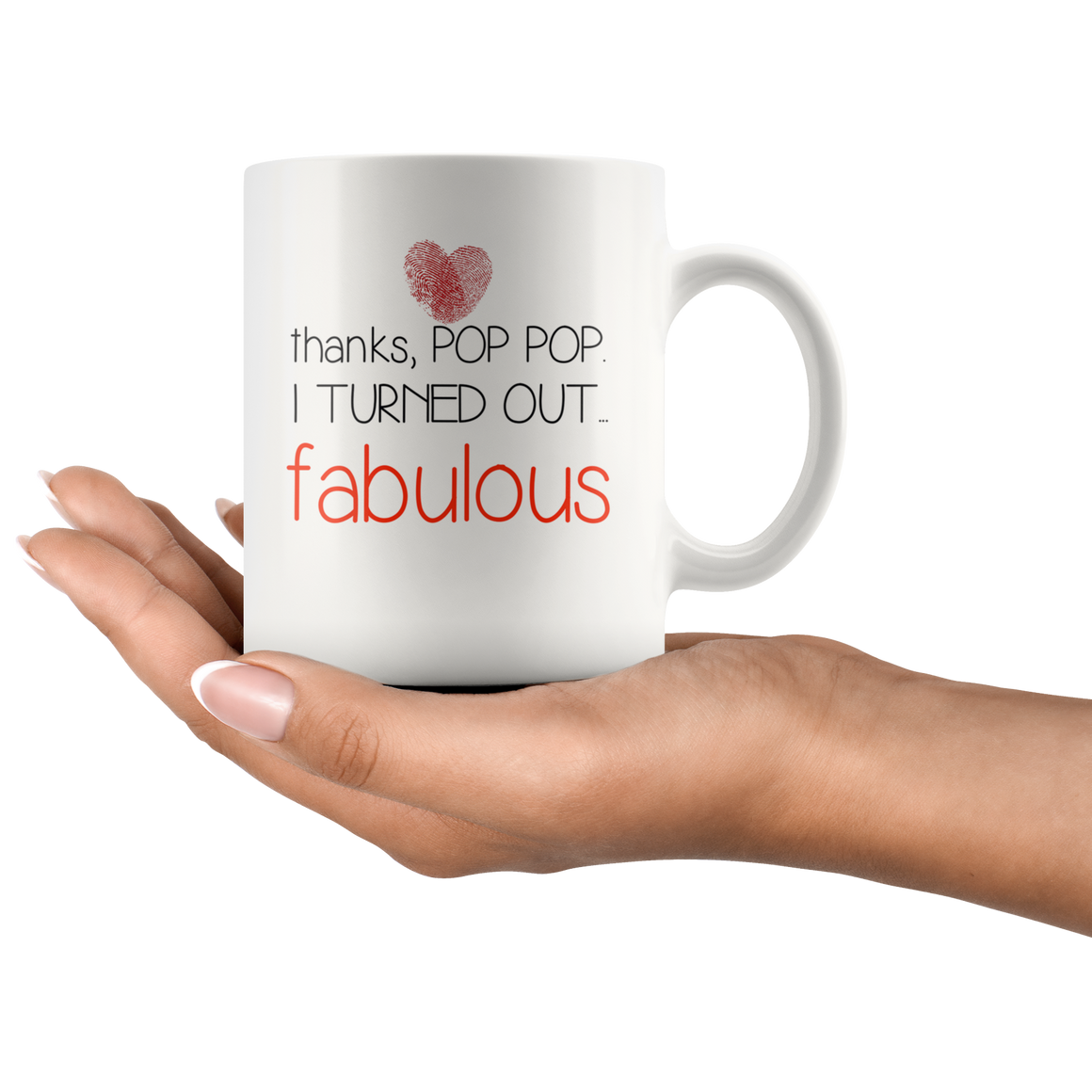 Thanks pop pop I turned out fabulous coffee mug gift - mother days gift