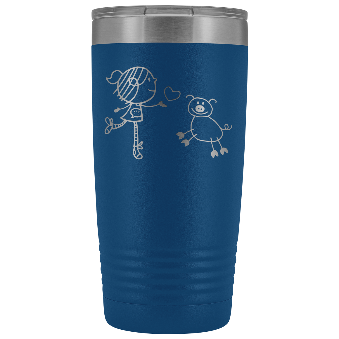 A girl and a pig 20oz Vacuum Tumbler