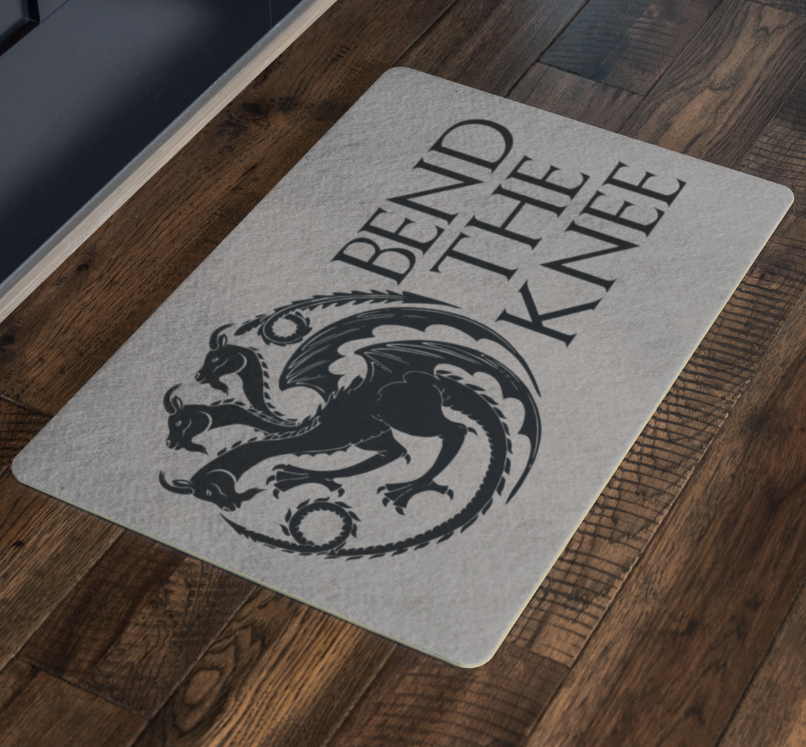 Funny doormat - Bend the knee goats doormat - goat door mat