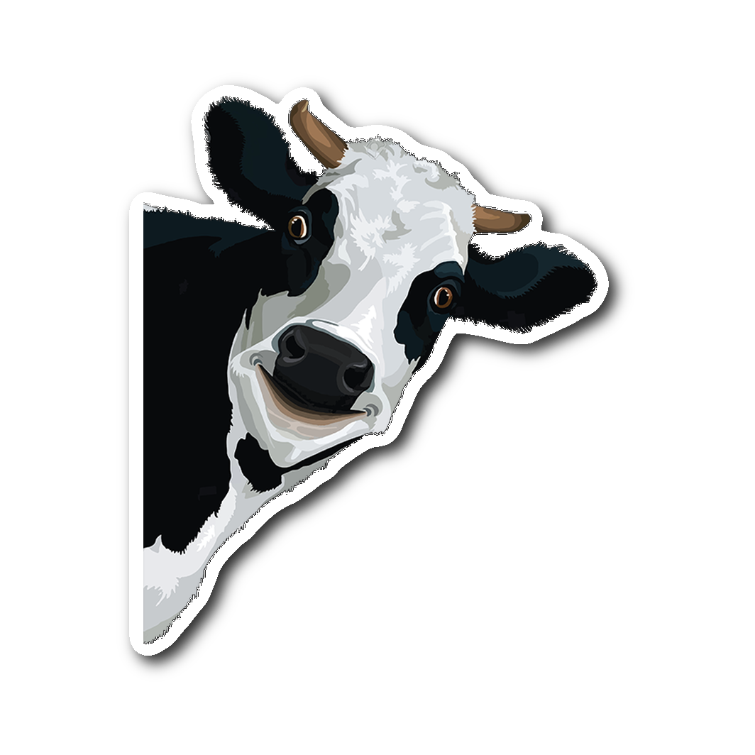 Funn cow face sticker