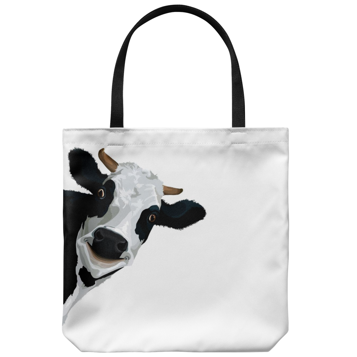 Funny cow face tote
