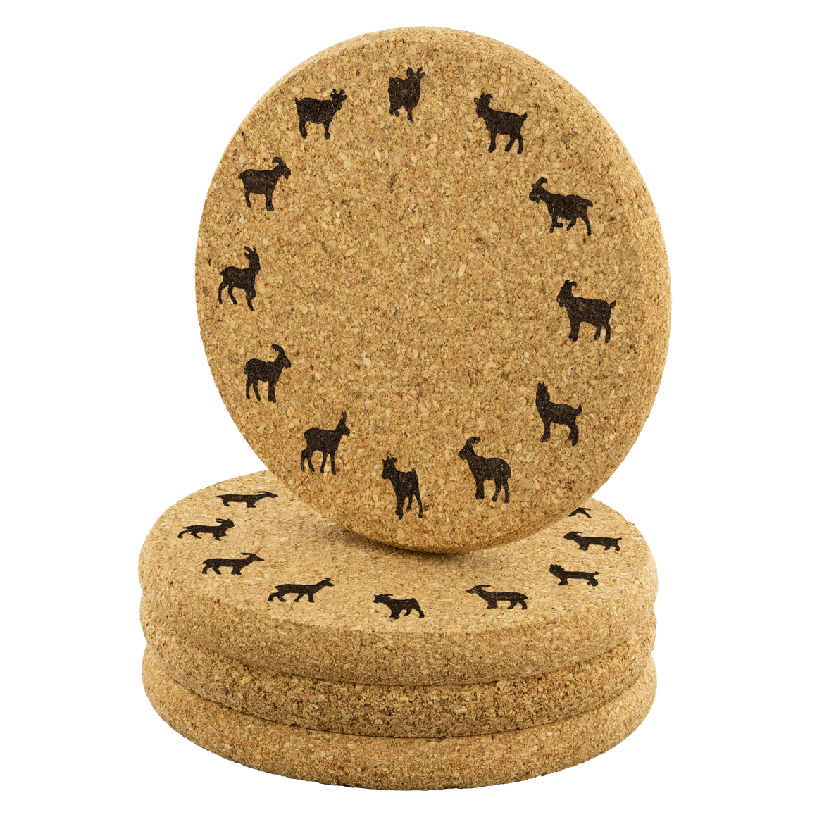 Goat cork coasters