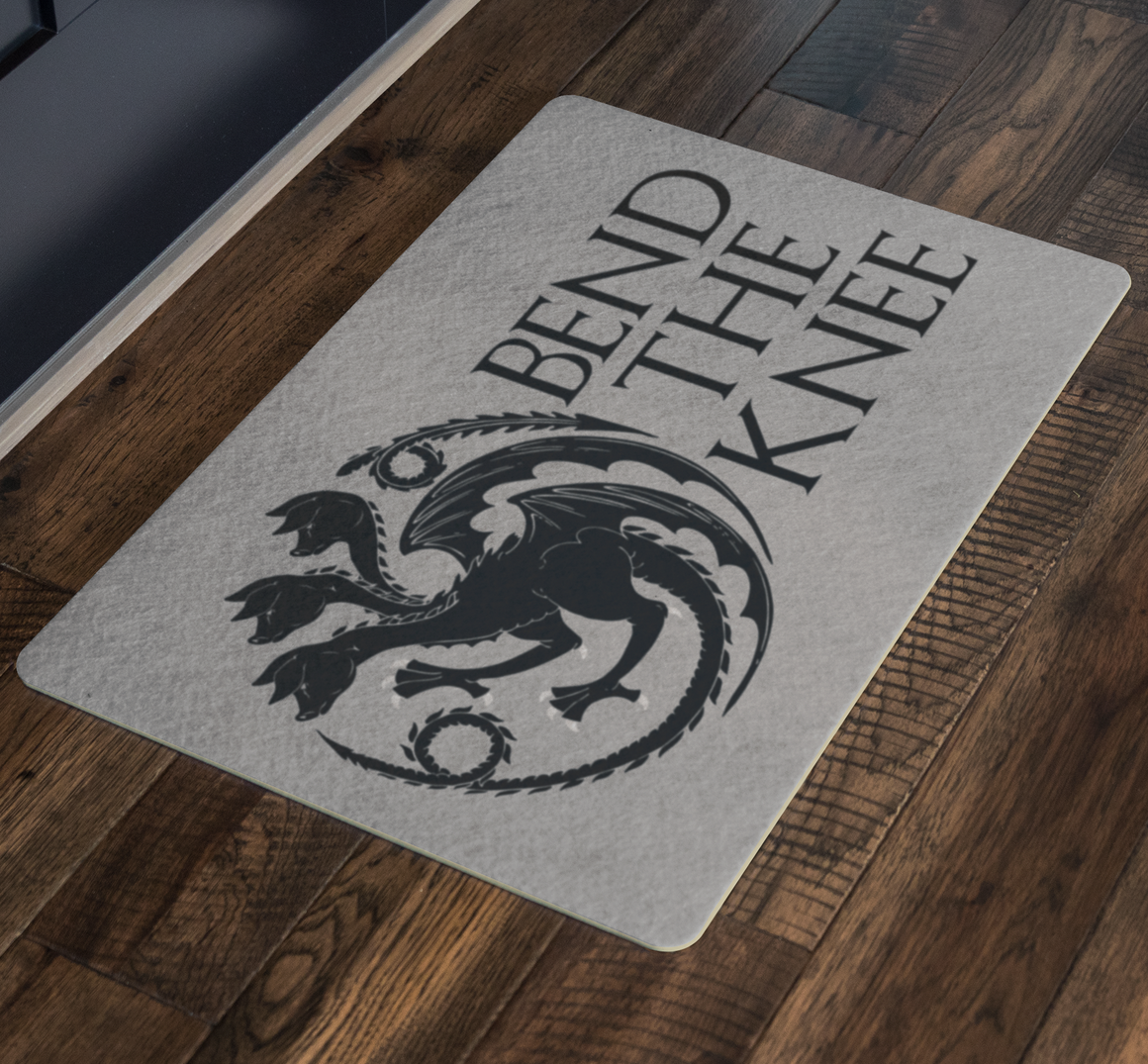 Funny doormat - Bend the knee pigs doormat - pigs door mat