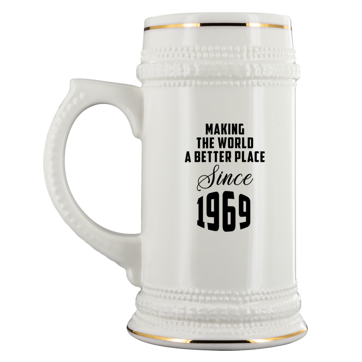 50th Birthday Gift Beer Stein