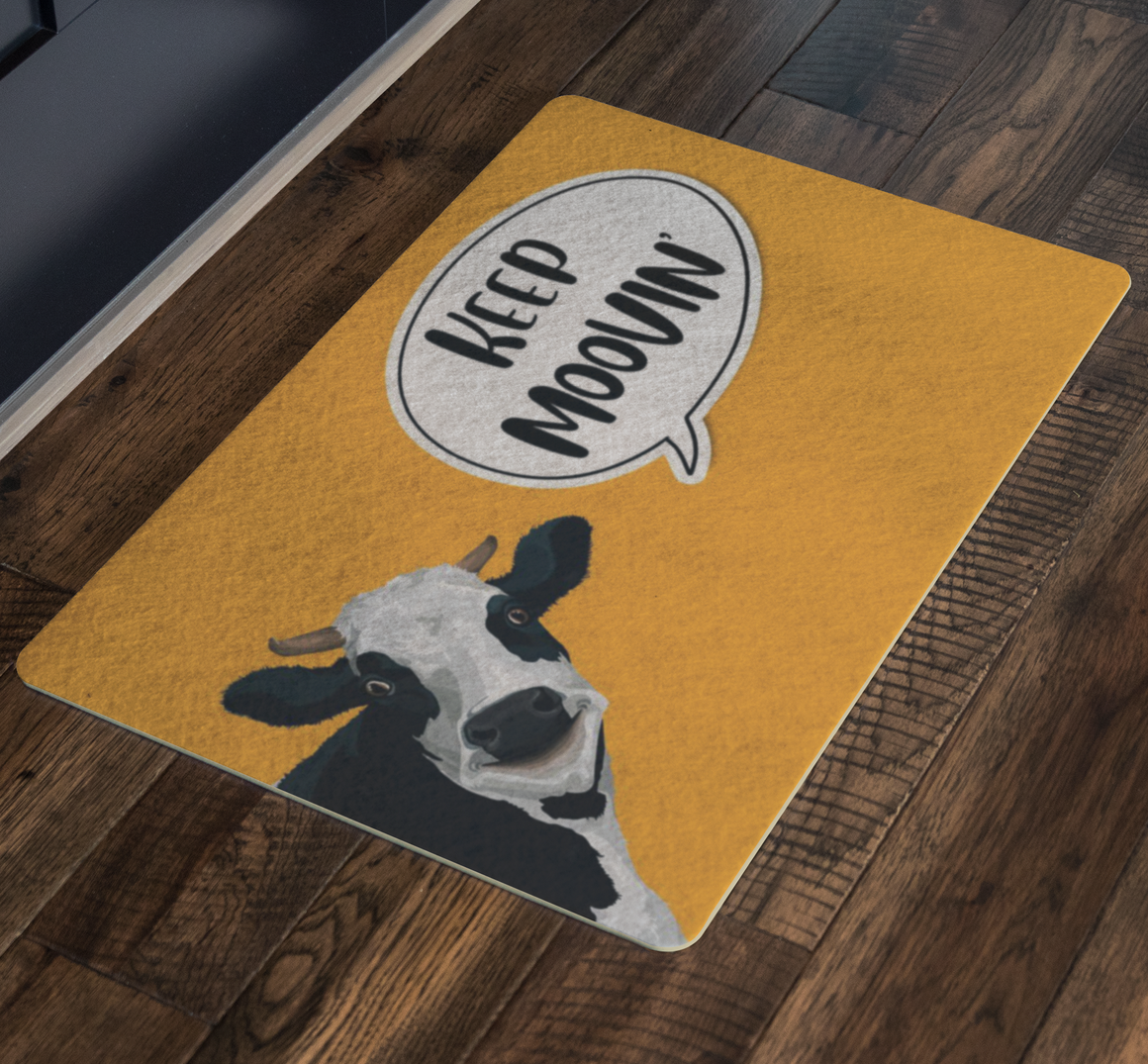 Funny doormat - Cow Doormat - Keep Mooving
