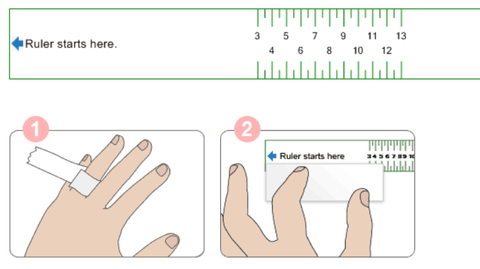 How To Measure A Ring With A Ruler