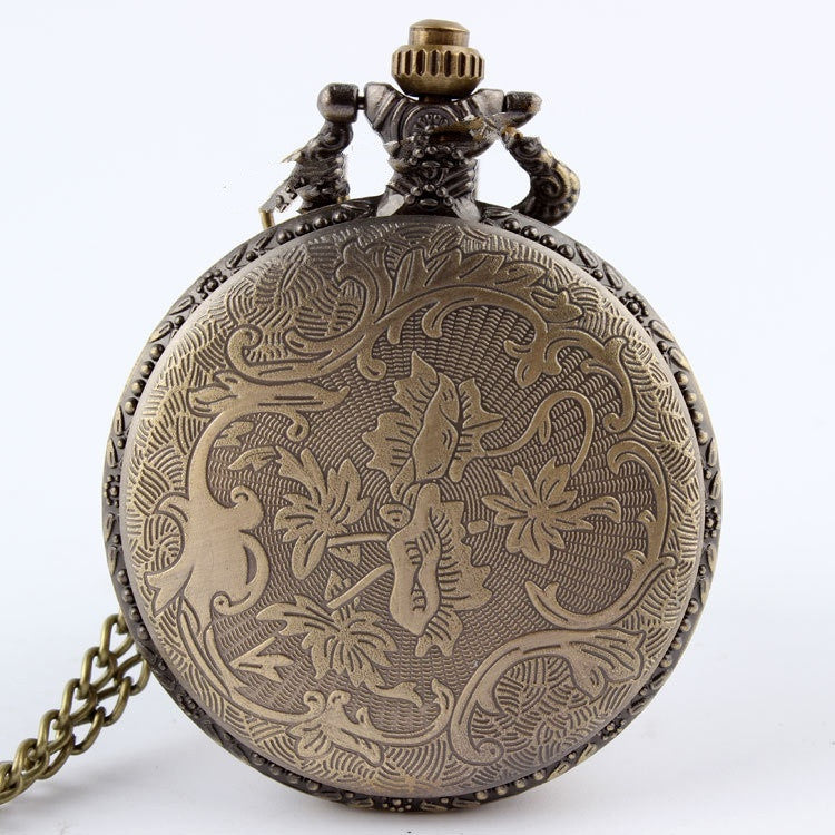 Antique Bronze Horse Hollow Pocket Watch Pluto99