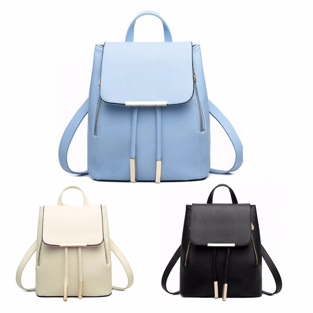 PU Leather Womens Backpack - Pluto99 359715aebc0d8