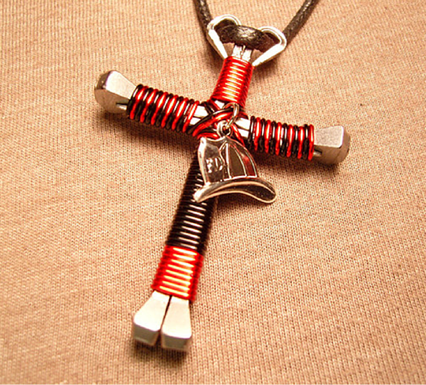 Firefighter cross necklace pluto99 firefighter cross necklace aloadofball Gallery