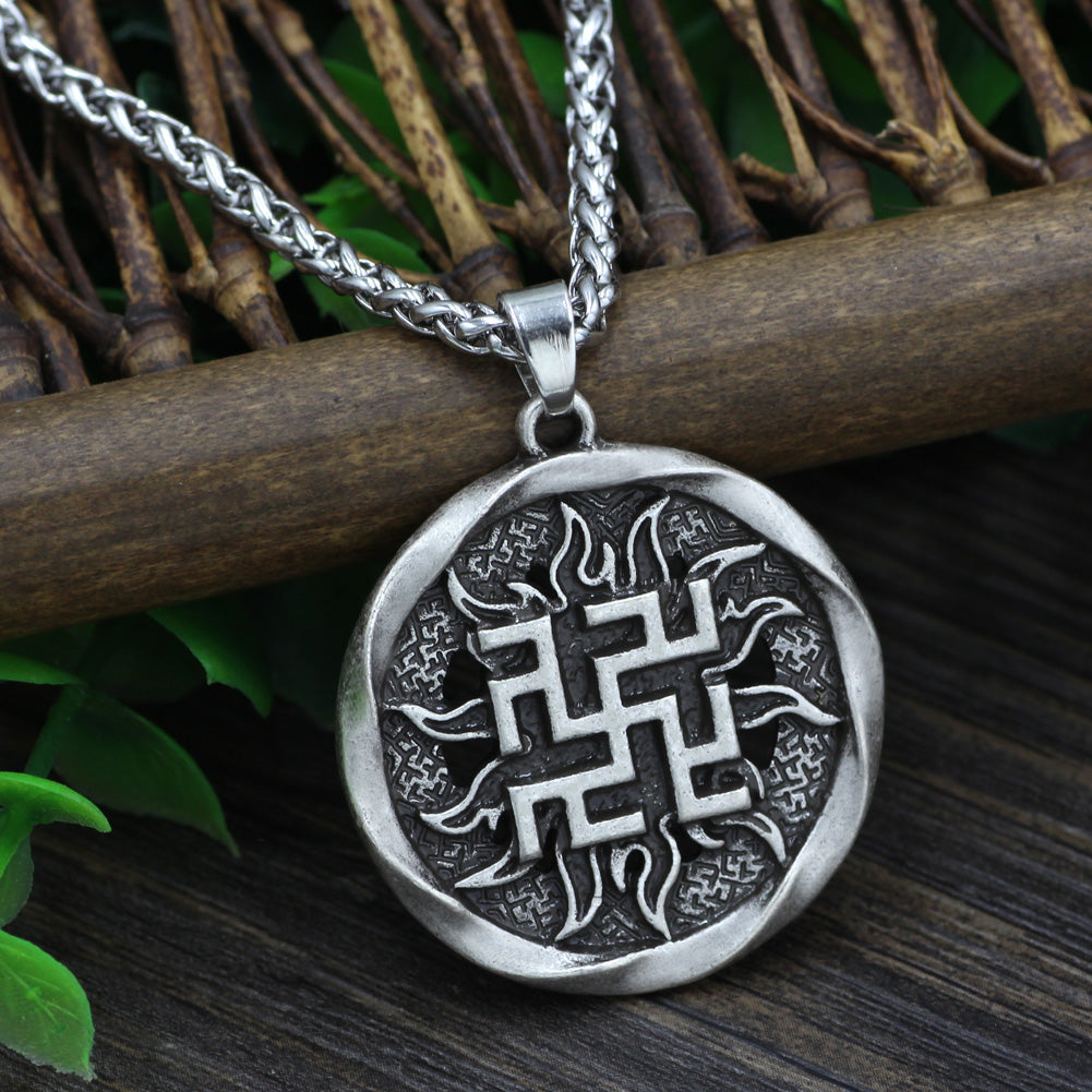 ancient slavic amulet warrior symbol viking necklaces pluto99
