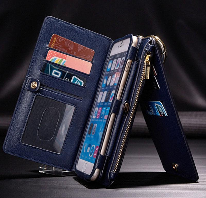 Luxury Leather Wallet Flip Organizer Phone Case