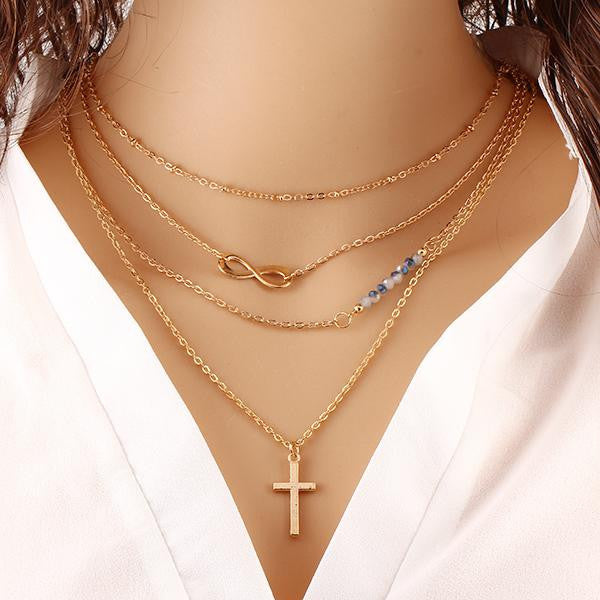 target p fmt a gold wid in necklace sterling plated rose infinity silver hei cross