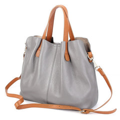 55c703577c90 Simple Leather Satchel Crossbody Bag - Clearance Sale