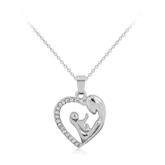 Beautiful motherhood silver pendant necklace pluto99 necklaces beautiful motherhood silver pendant necklace mozeypictures Gallery