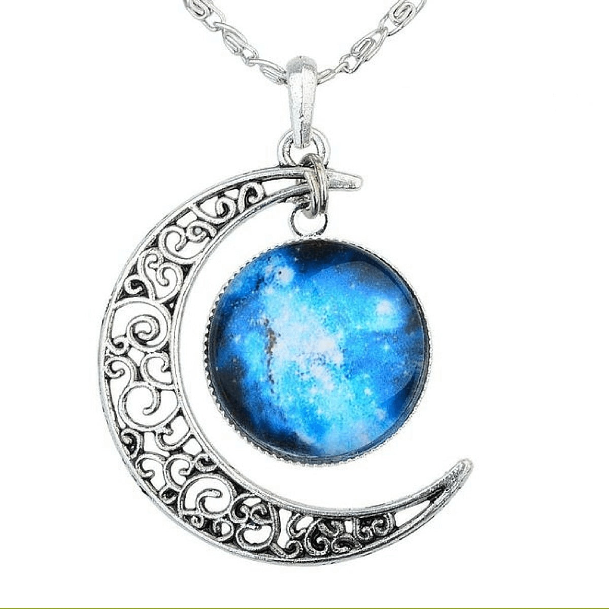 gemstone sterlling with moonstone rainbow gem moon and pendant silver sterling crescent