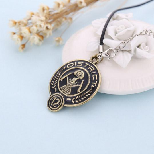 Hunger Games District 12 Pendant Necklace Pluto99