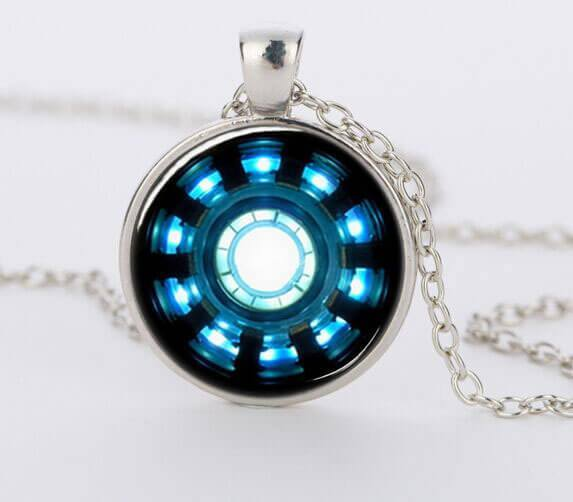 Iron man arc reactor pendant glass necklace pluto99 necklaces iron man arc reactor pendant glass necklace aloadofball Image collections