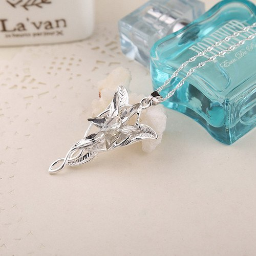 Lord Of The Rings Arwen S Evenstar Silver Pendant Necklace