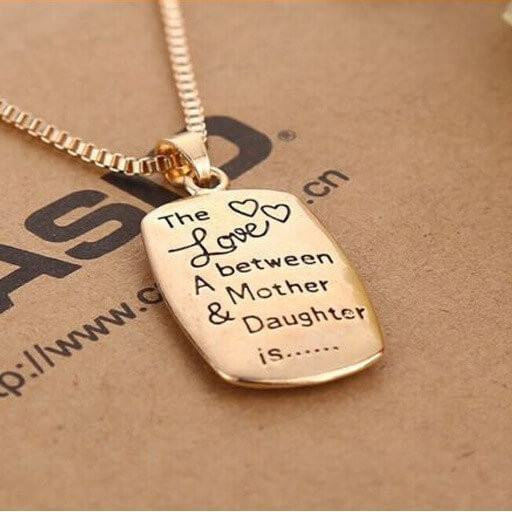 Mom Daughter Necklace The Love Between A Mother