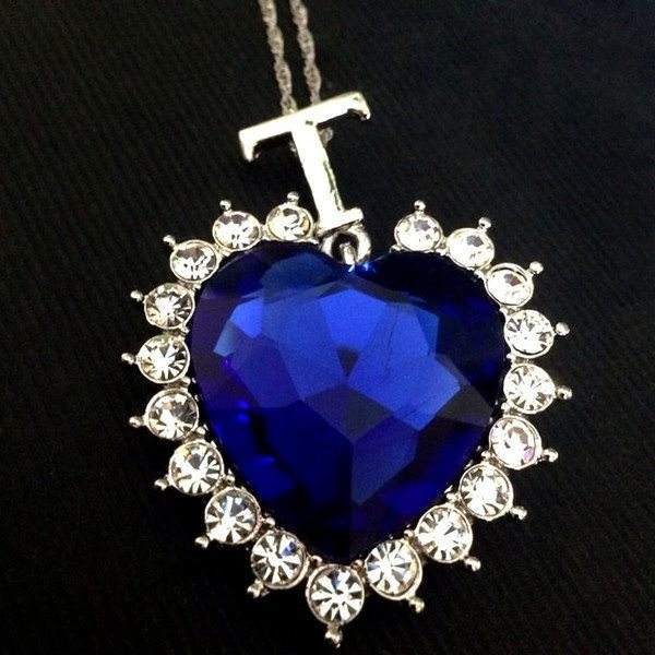 Titanic heart of the ocean sapphire crystal chain necklace pluto99 necklaces titanic heart of the ocean sapphire crystal chain necklace aloadofball Image collections
