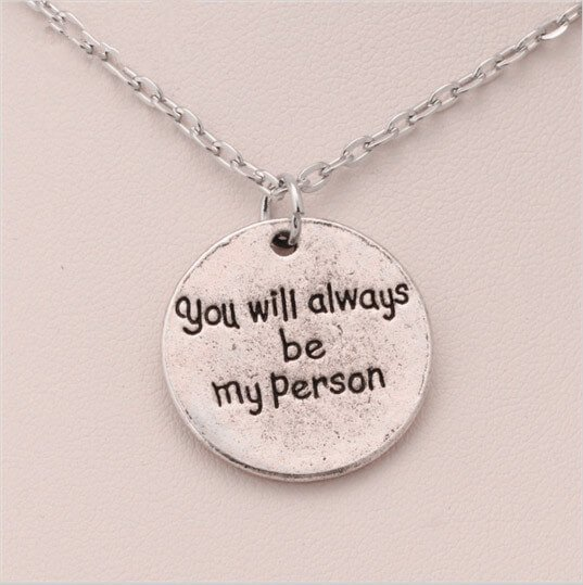 You Are My Person Letter Pendant Necklace Pluto99