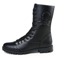 788abad68aa3e6 Skull Zip England Style Boots Winter - Clearance Sale