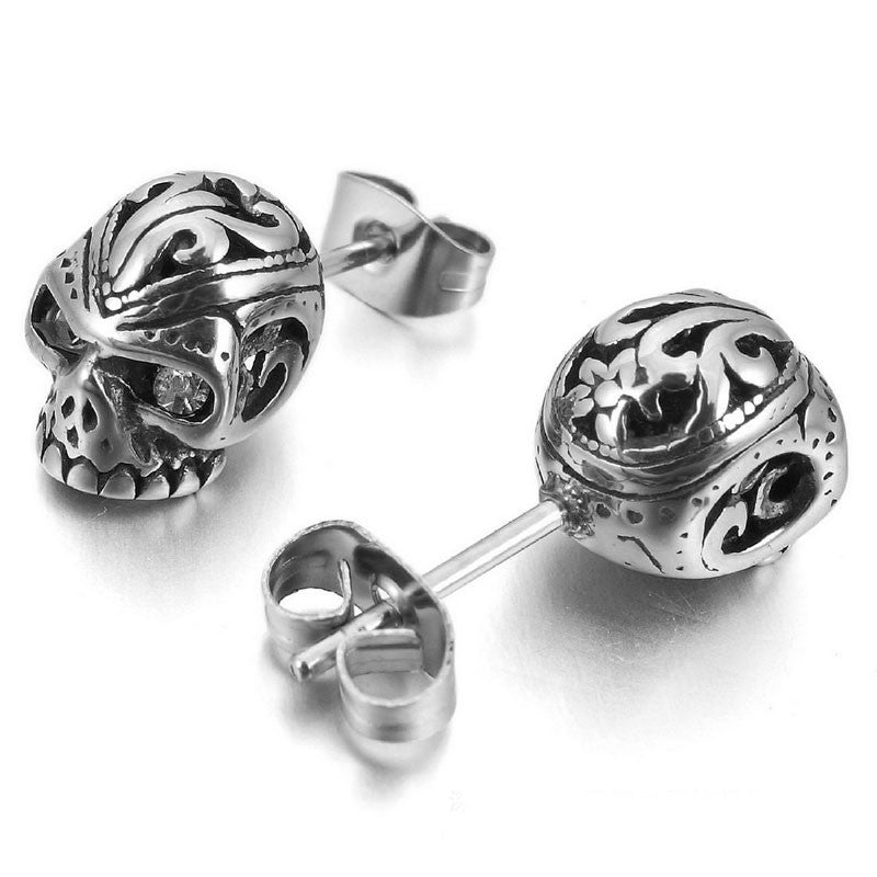 silver stud and set in cristoforo cufflink cufflinks cardi crossbones skull