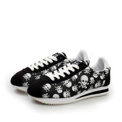 655163a1185370 Cool Skull Print Flat Shoes - Clearance Sale