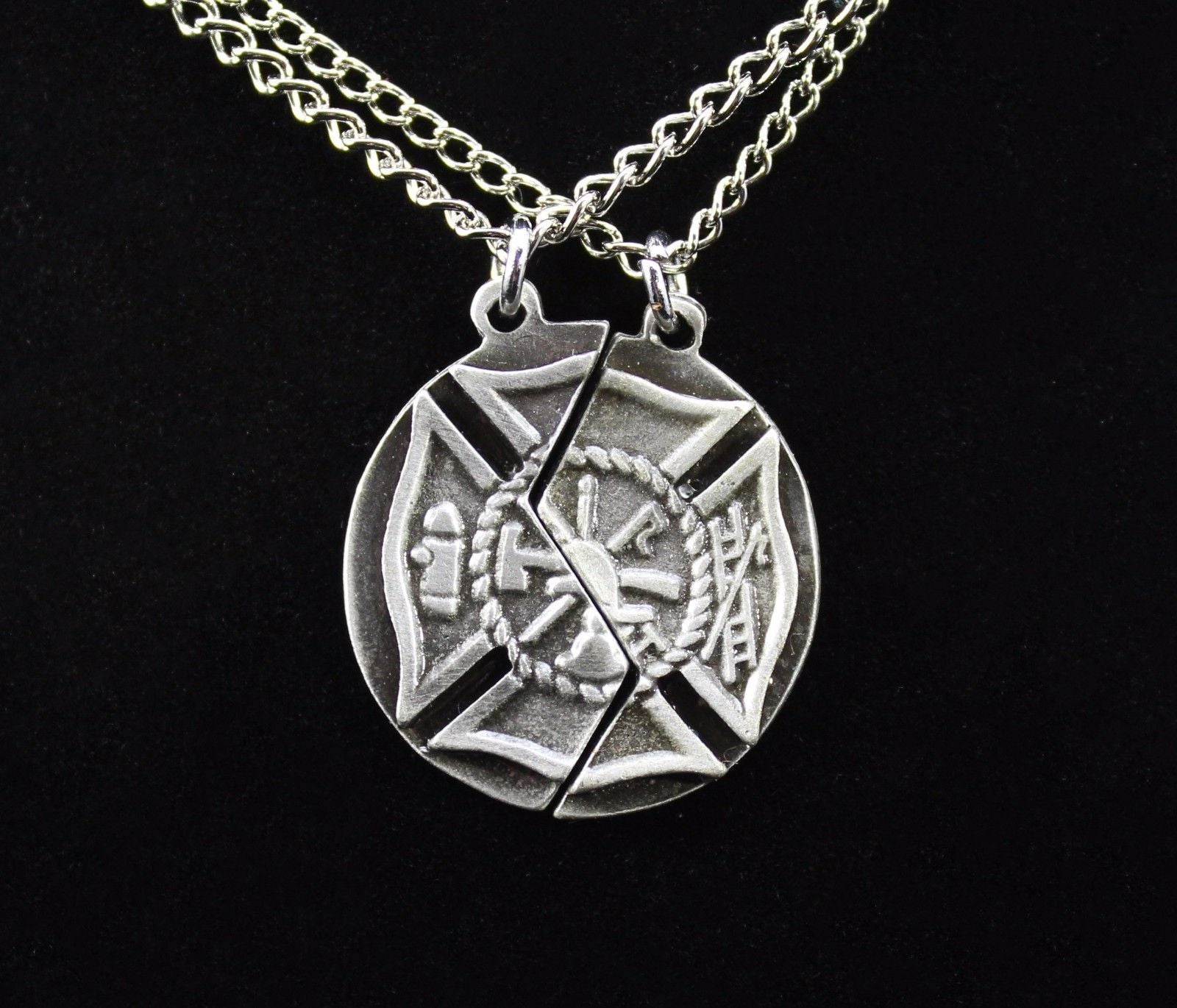 products cross necklaces hers tag his dog maltese pendant firefighter anomaly stainless creations and ff