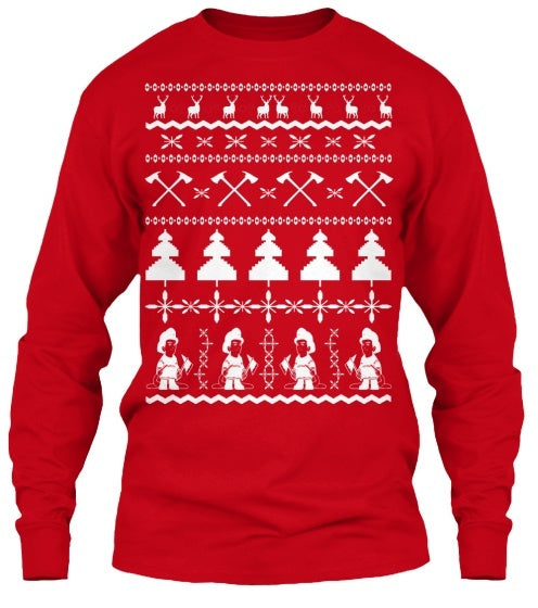 Firefighter Ugly Christmas Sweater - Pluto99