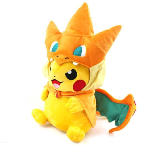 Pikachu With Charizard Hat Soft Toy Pluto99
