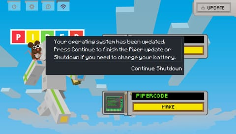 Continue update message