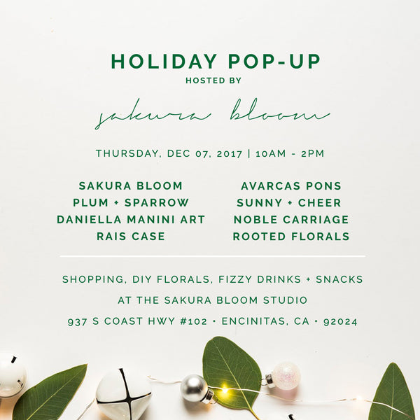Holiday Pop Up At Sakura Bloom