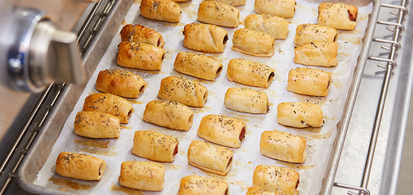 Mini Hot Dogs Wrapped in Pastry