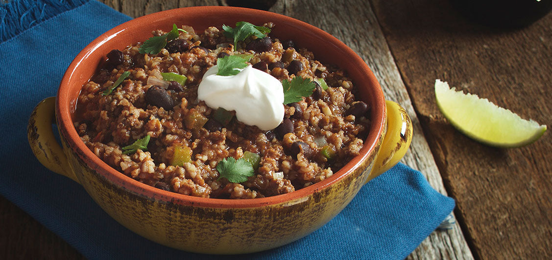 Ancho Beef and Bulgur Chili