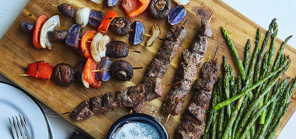 Flank Steak Grilled Kabobs