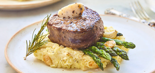 Filet Mignon with Black Truffle Butter