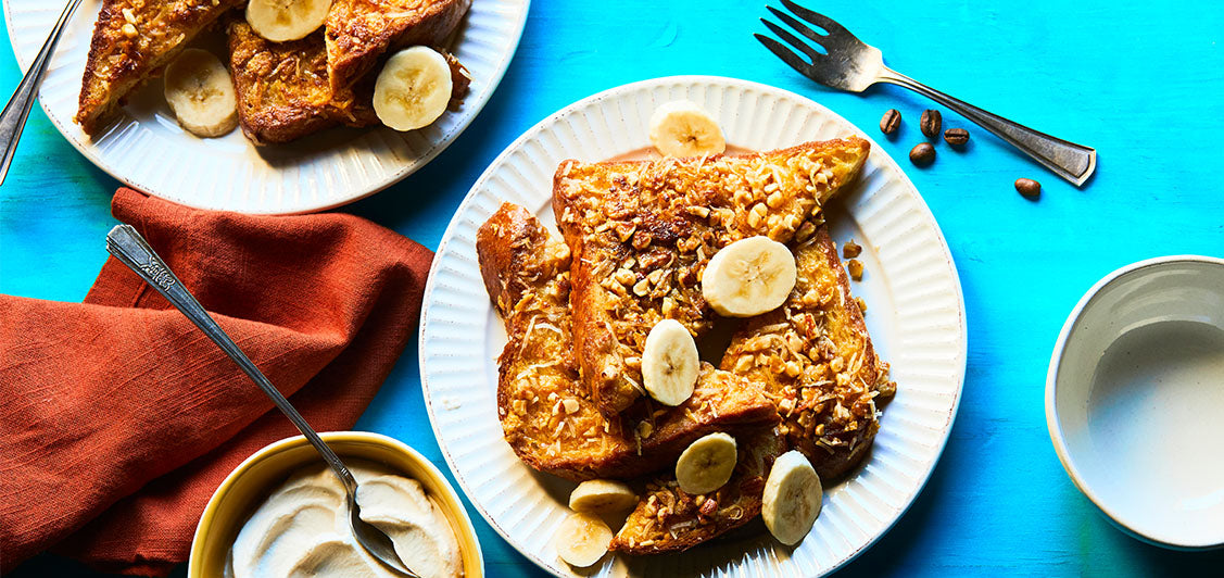 Coconut-Almond Crusted French Toast