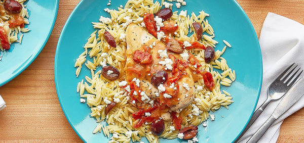 Chicken Balsamico with Orzo