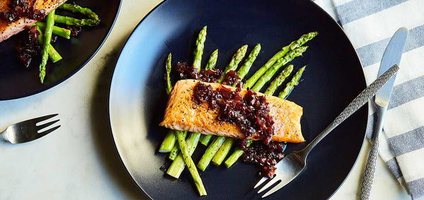 Seared Salmon with Red Wine Butter