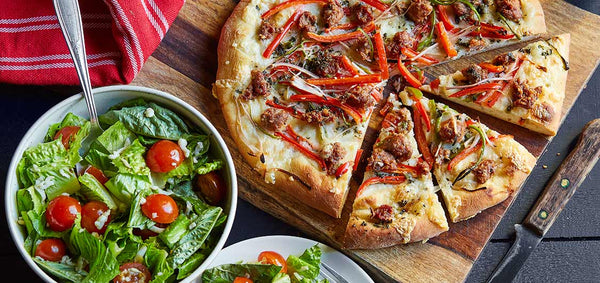 Pizza with Sweet and Hot Peppers