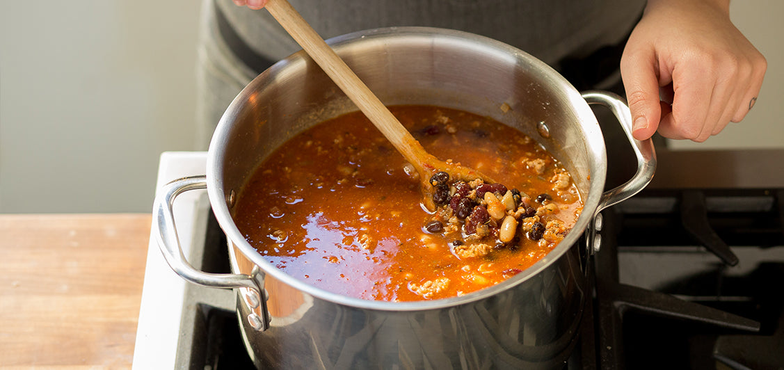 Three Bean Habanero Turkey Chili