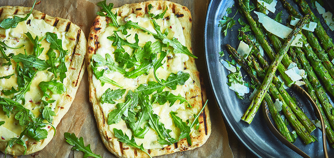 Arugula, Ricotta, and Olive Oil Pizzettes